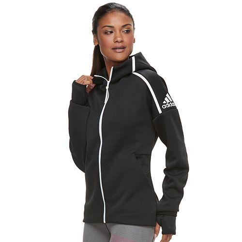 Women's adidas Z.N.E. Thumb Hole Zip Front Hoodie