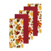 Celebrate Fall Together Leaf Toss Kitchen Towel 5-pack