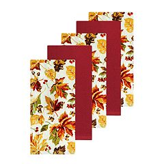 Celebrate Fall Together Leaf Toss Kitchen Towel 5-pack