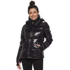 Women's S13 Hooded Glossy Down Puffer Coat