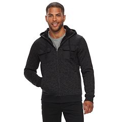 Men's Rock & Republic Quilted Sherpa Full-Zip Hoodie