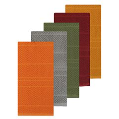 Celebrate Fall Together Chevron Carve Kitchen Towel 5-pack