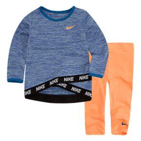 Baby Girl Nike Dri-FIT Tunic Top & Leggings Set