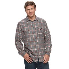 Big & Tall SONOMA Goods for Life™ Slim-Fit Supersoft Flannel Button-Down Shirt