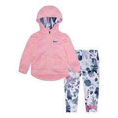 Baby Girl Nike Therma-FIT Hoodie & Splatter Leggings Set