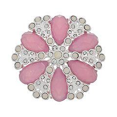 Napier Silver & Pink Pin