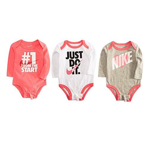 Baby Girl Nike 3 Pack Bodysuits