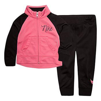 431f323b8 Baby Girl Nike Jacket & Pants Track Suit Set