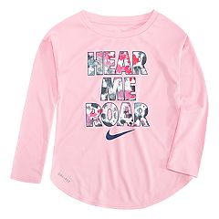 Toddler Girl Nike 'Hear Me Roar' Dri-FIT Long Sleeve Tee