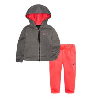 Baby Girl Nike Therma-FIT Hooded Jacket & Pants Track Suit Set
