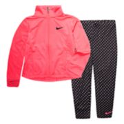 Baby Girl Nike Jacket & Polka-Dot Leggings Set