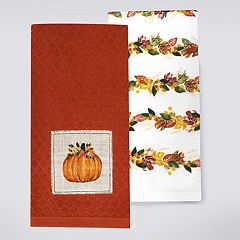 Celebrate Fall Together Pumpkin Patch Kitchen Towel 2-pack