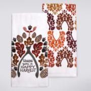 Celebrate Fall Together Wishbone Kitchen Towel 2-pack