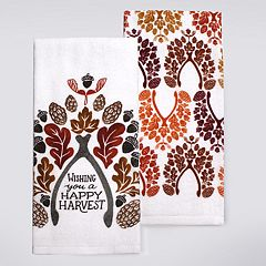 Celebrate Fall Together Wishbone Kitchen Towel 2-pack