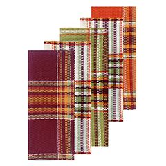 Celebrate Fall Together Plaid Kitchen Towel 5-pack