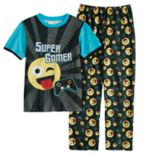 Boys 6-12 Emoji 2-Piece Pajama Set