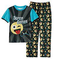 Boys 6-12 Emoji 2-Piece Pajama Set