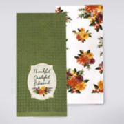 Celebrate Fall Together Thankful Patch Kitchen Towel 2-pack