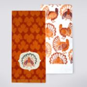 Celebrate Fall Together Turkey Patch Kitchen Towel 2-pack