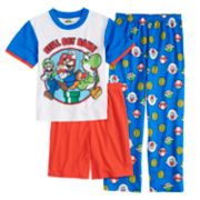 Boys 4-10 Super Mario Bros. 3-Piece Pajama Set