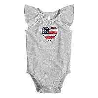 Baby Girl Jumping Beans® Patriotic Flutter Bodysuit