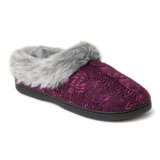 Women's Dearfoams Space-Dyed Cable Knit Clog Slippers