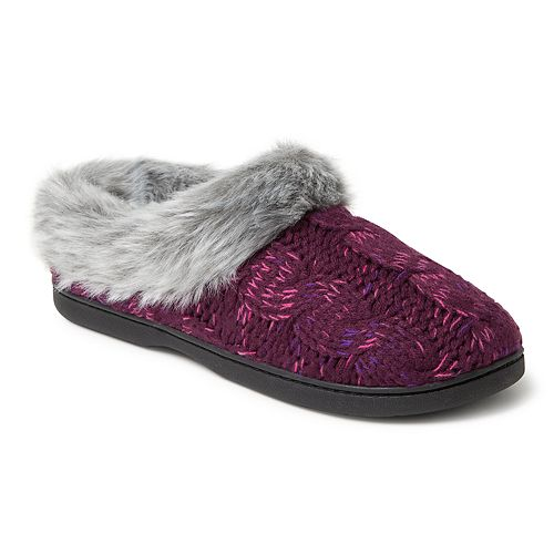 973d4bf6161 Women s Dearfoams Space-Dyed Cable Knit Clog Slippers
