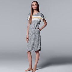 Women's Simply Vera Vera Wang Striped Panel Sleepshirt
