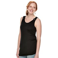 Maternity a:glow Snap Shoulder Nursing Tank