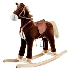 Happy Trails Plush Rocking Horse Ride-On