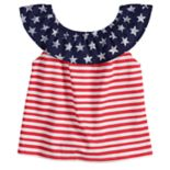 Baby Girl Jumping Beans® Patriotic Ruffled Top