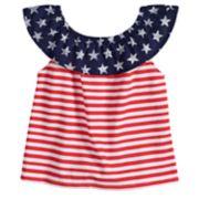 Baby Girl Jumping Beans® Patriotic Ruffled Top