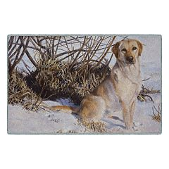 Brumlow Mills Chilly Dog Golden Retriever Printed Rug