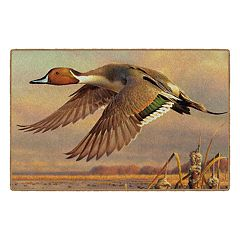 Brumlow Mills Evening Flight Duck Wildlife Printed Rug