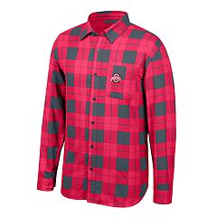 Men's Ohio State Buckeyes Run Around Plaid Shirt