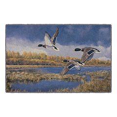 Brumlow Mills Heading South Wildlife Ducks Printed Rug
