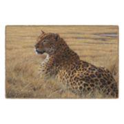 Brumlow Mills Leopard in Grass Animal Printed Rug