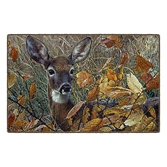 Brumlow Mills Autumn Lady Wildlife Deer Printed Rug