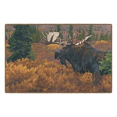 Brumlow Mills Denali in Autumn Wildlife Moose Printed Rug