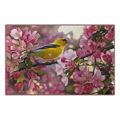 Brumlow Mills Touch of Gold Wild Bird Spring Printed Rug