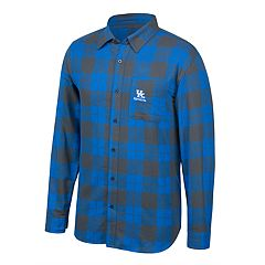 Men's Kentucky Wildcats Run Around Plaid Shirt