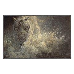 Brumlow Mills White Lightning Tiger Printed Rug