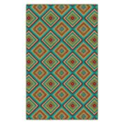 Brumlow Mills Multicolored Tiles Printed Rug