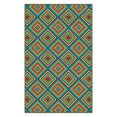 Brumlow Mills Multicolored Tiles Printed Rug