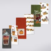 Celebrate Fall Together Pumpkin Patch, Spice & Truck Kitchen Towel 6-pack