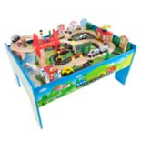 Deluxe Hand Painted Wooden Table Train Set by Hey! Play!
