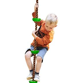Hey! Play! Climbing Rope Knotted Tree Swing Ladder
