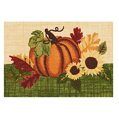 Celebrate Fall Together Sunflower Pumpkin Rug