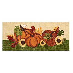 Celebrate Fall Together Sunflower Pumpkin Rug