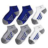 Boys 4-20 adidas 6-Pack Low-Cut Cushioned Socks